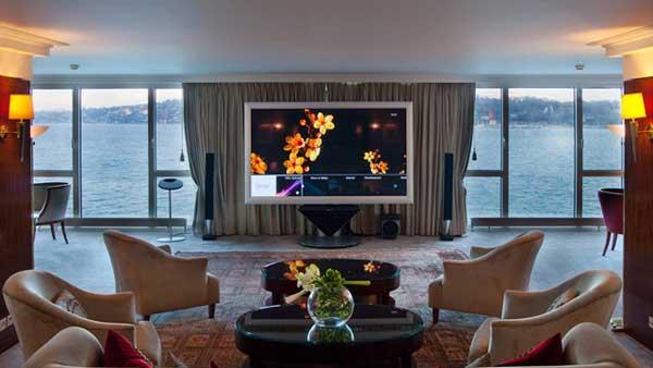 Hotelový pokoj v hotelu President Wilson v Ženevě