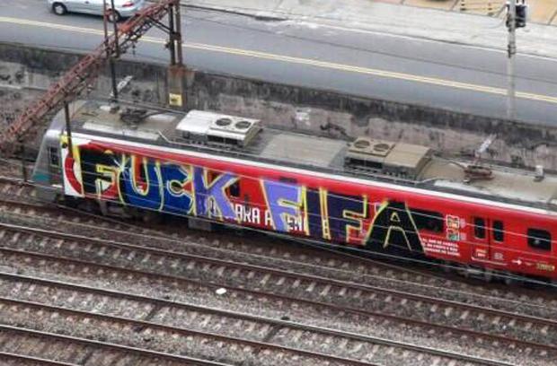 Anti-fotbalové graffiti