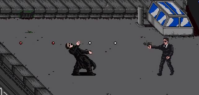 Jak by vypadal Matrix, kdyby z něj udělali hru na staré Nintendo?
