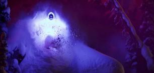 Noční lyžovačka v LED obleku může být sranda